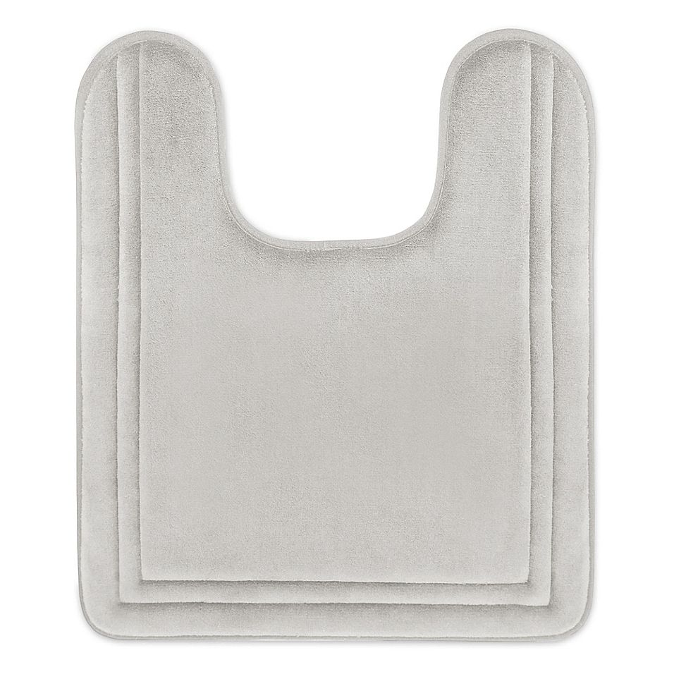 Smart Dry 21 X 24 Memory Foam Contour Bath Mat In Chrome Bath