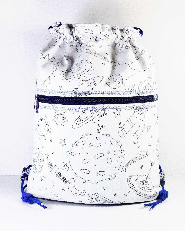 Color Me Bag - Boy Bag - Coloring Bag - Coloring Backpack ...