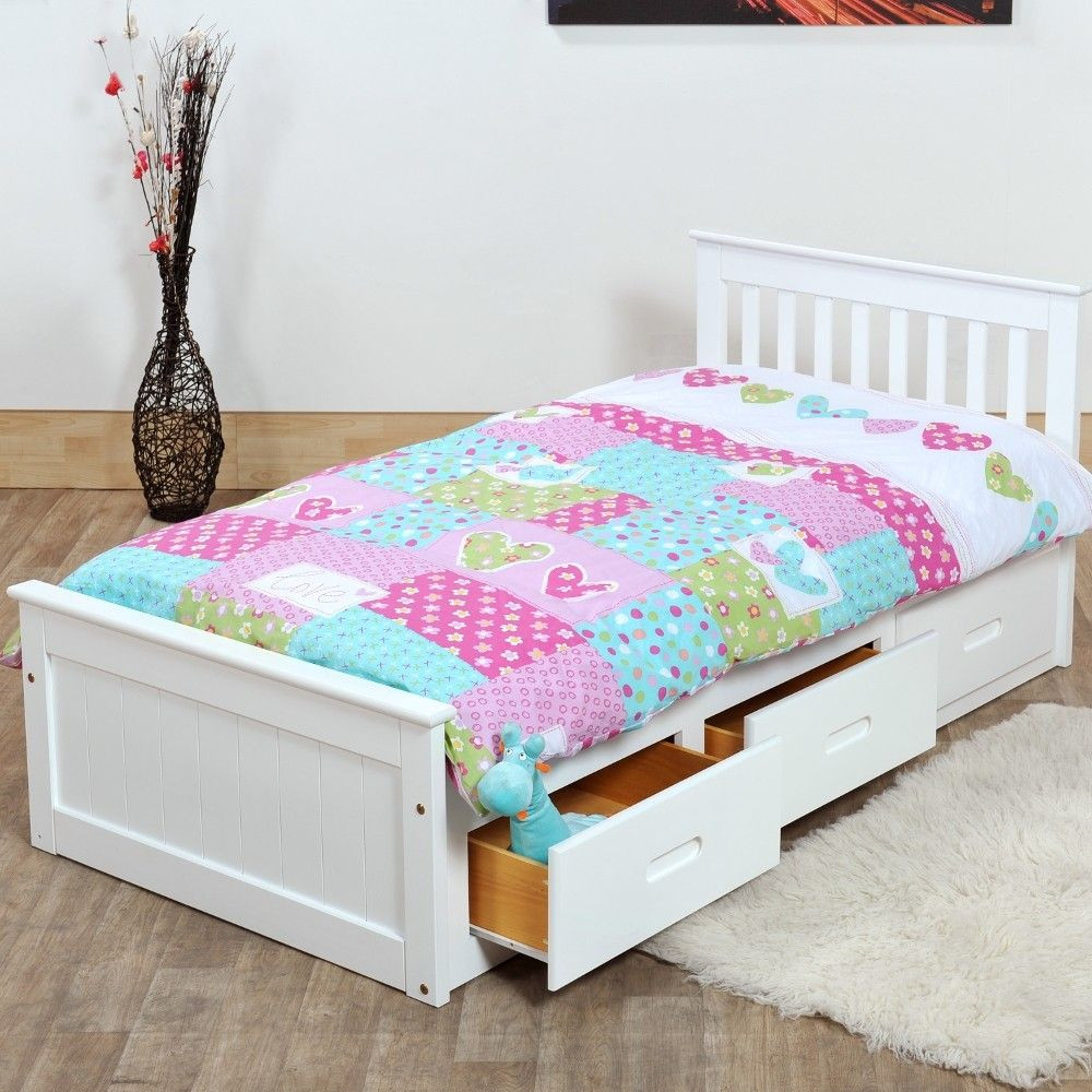 Mission White Wooden Storage Bed Single Beds With Storage White Wooden Bed Wooden Bed With Storage