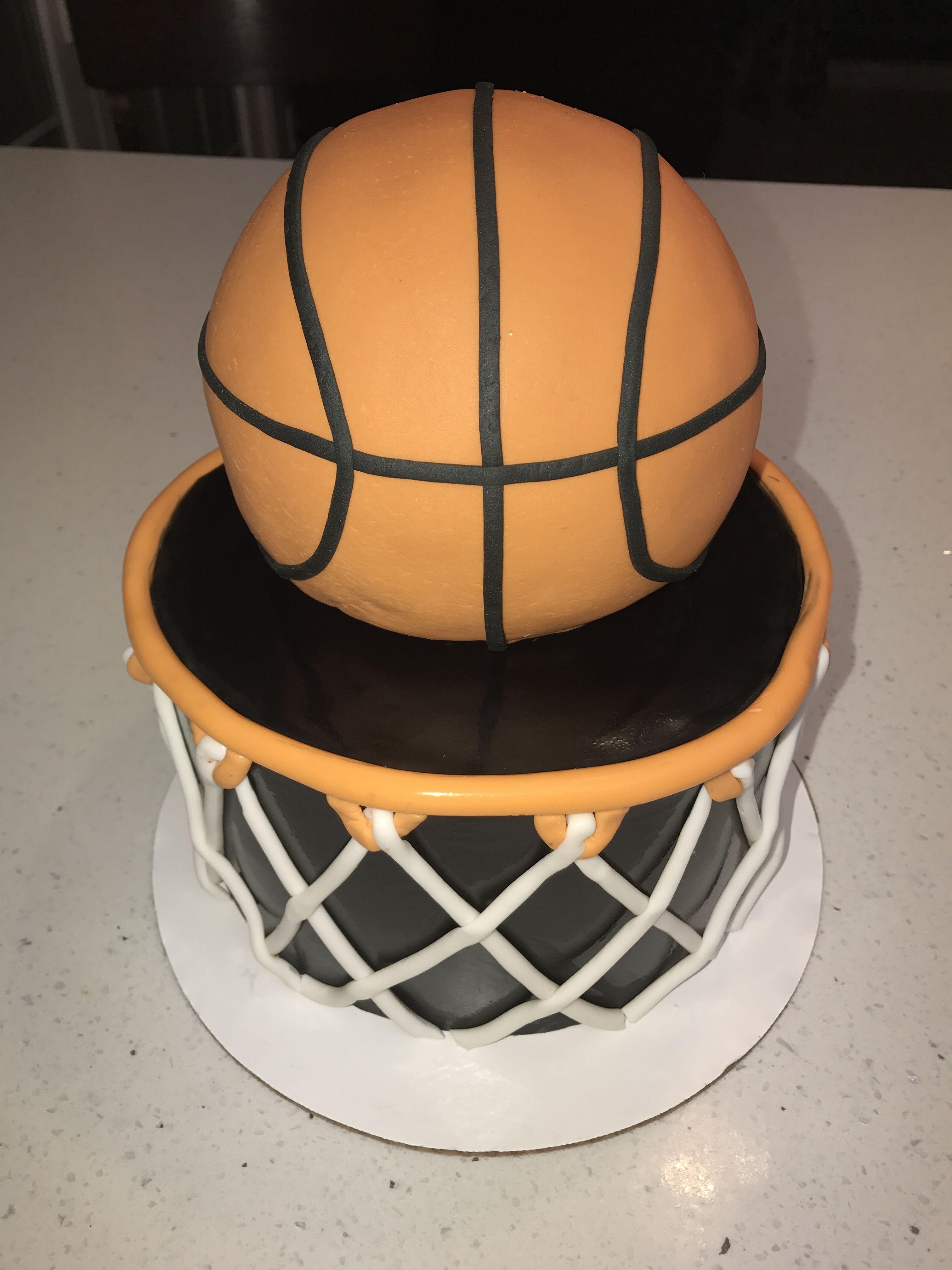Basketball Ice Cream Cake Ice Cream Cake Cream Cake Basketball Party