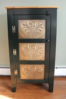 Shaker Style Pie Safe Antique Brass Punched Tin Made In Maine My Lovi Shaker Style Shaker Style Furniture Punched Tin