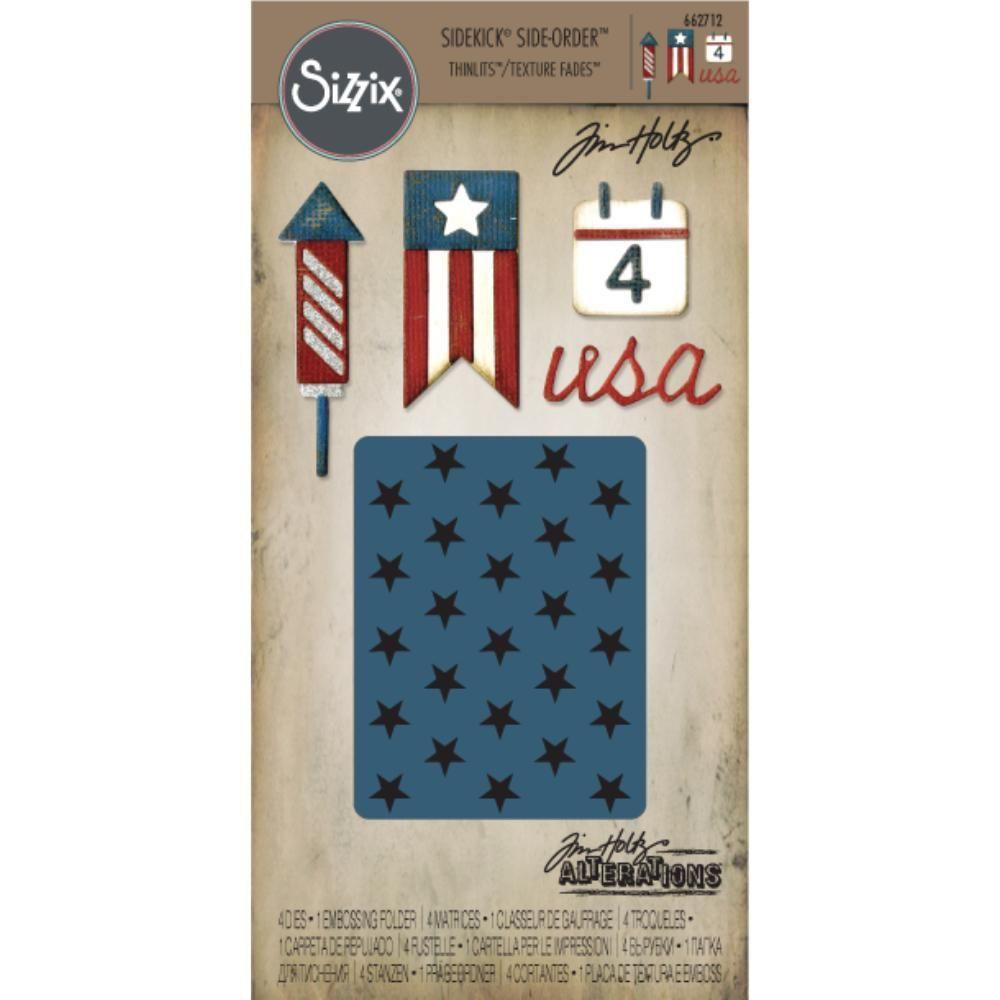 Americana 662712 Sizzix Sidekick Side-Order Cutting Dies Set By Tim Holtz