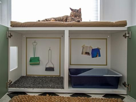 Beautiful Placing A Cat Litter Box Inside An Ikea Cabinet, And Add A Cat Door To The  Side. Placing A Mat Outside The Cat Litter Box Forces The Cats To Wipe Tu2026 Design Ideas