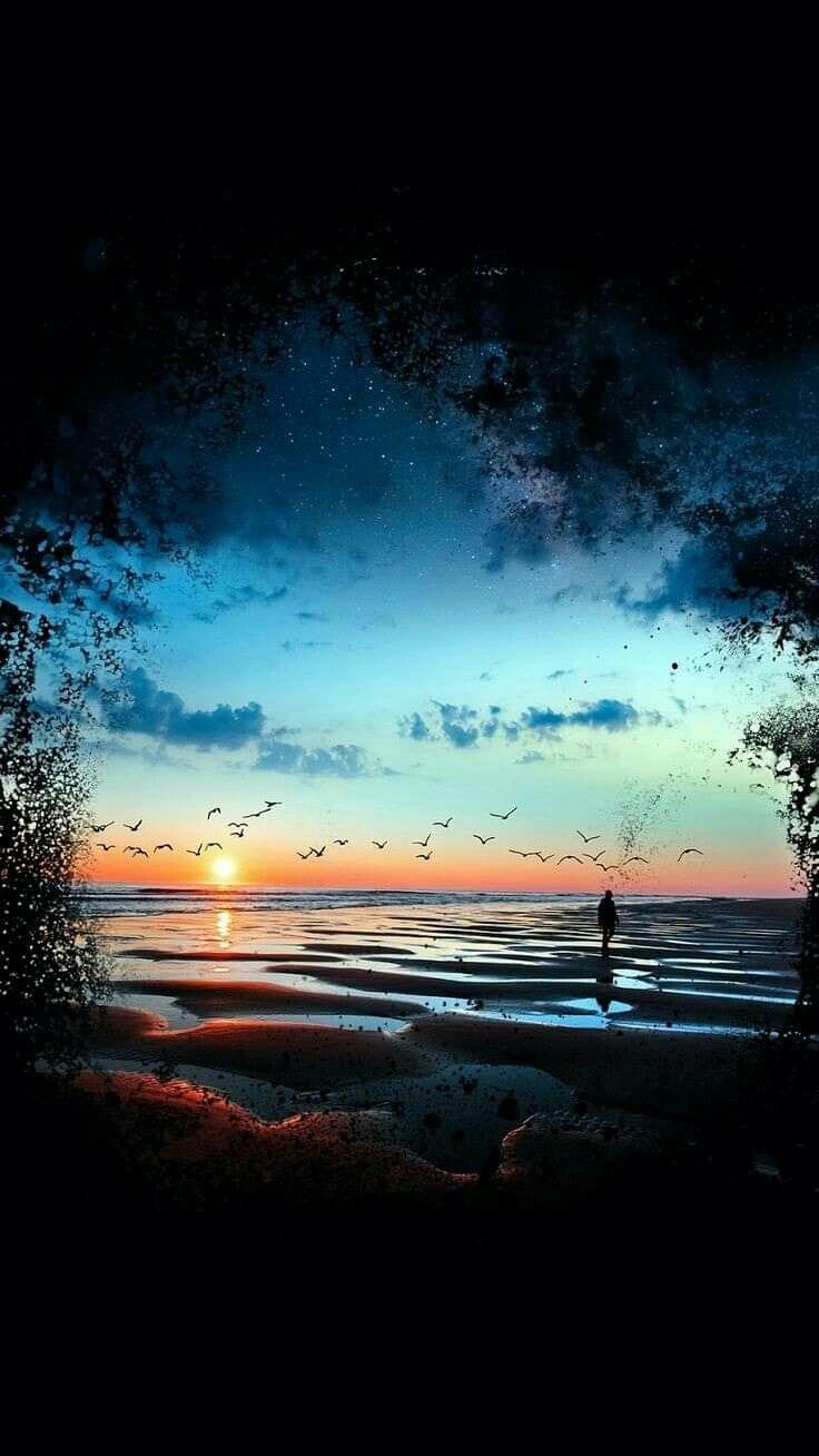 Pin Oleh Nicewell Di Evening Fotografi Alam Pemandangan Khayalan Pemandangan