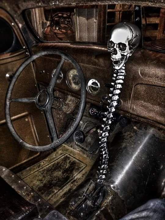 Spine And Skull Shifter Vehicles Custom Ideas Rat Rod
