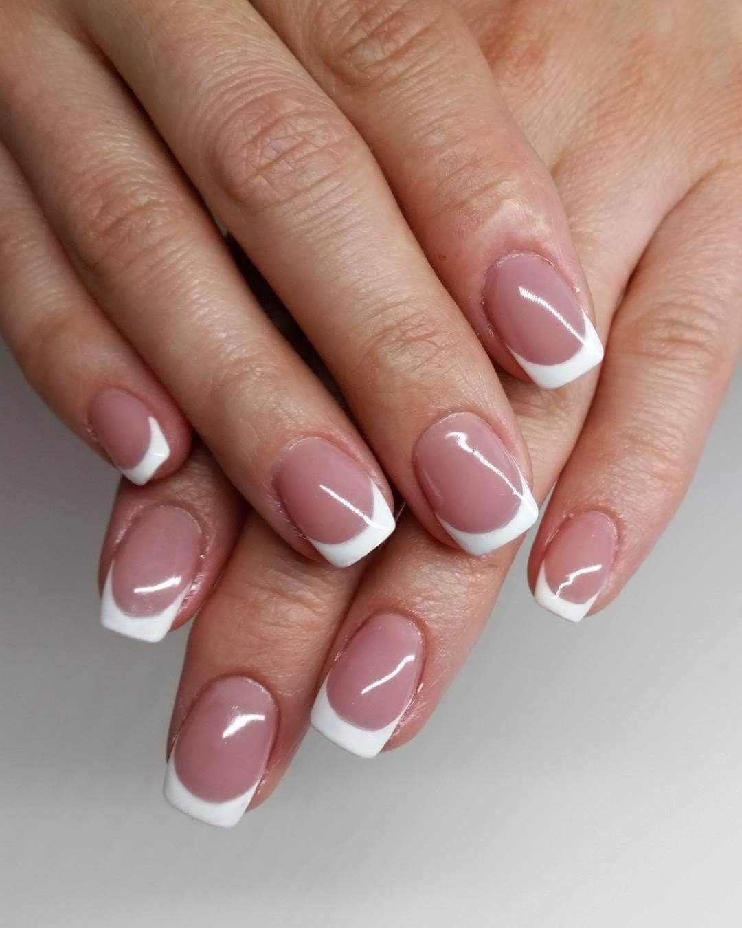 awesome french nails designs 2016 | Pinterest | French nails, Curved ...