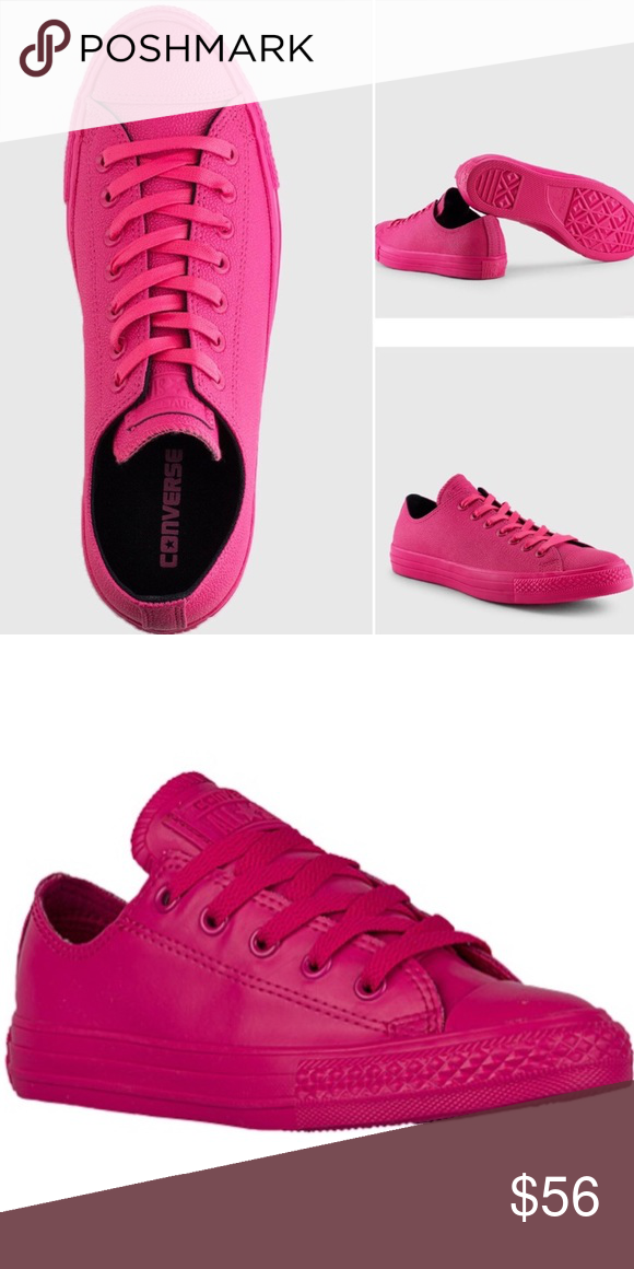 hot pink leather converse, OFF 72