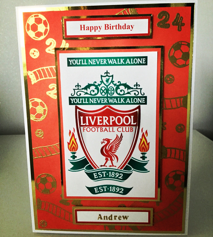 Liverpool Football Card Card Making Birthday Birthday Cards Tuxedo Card