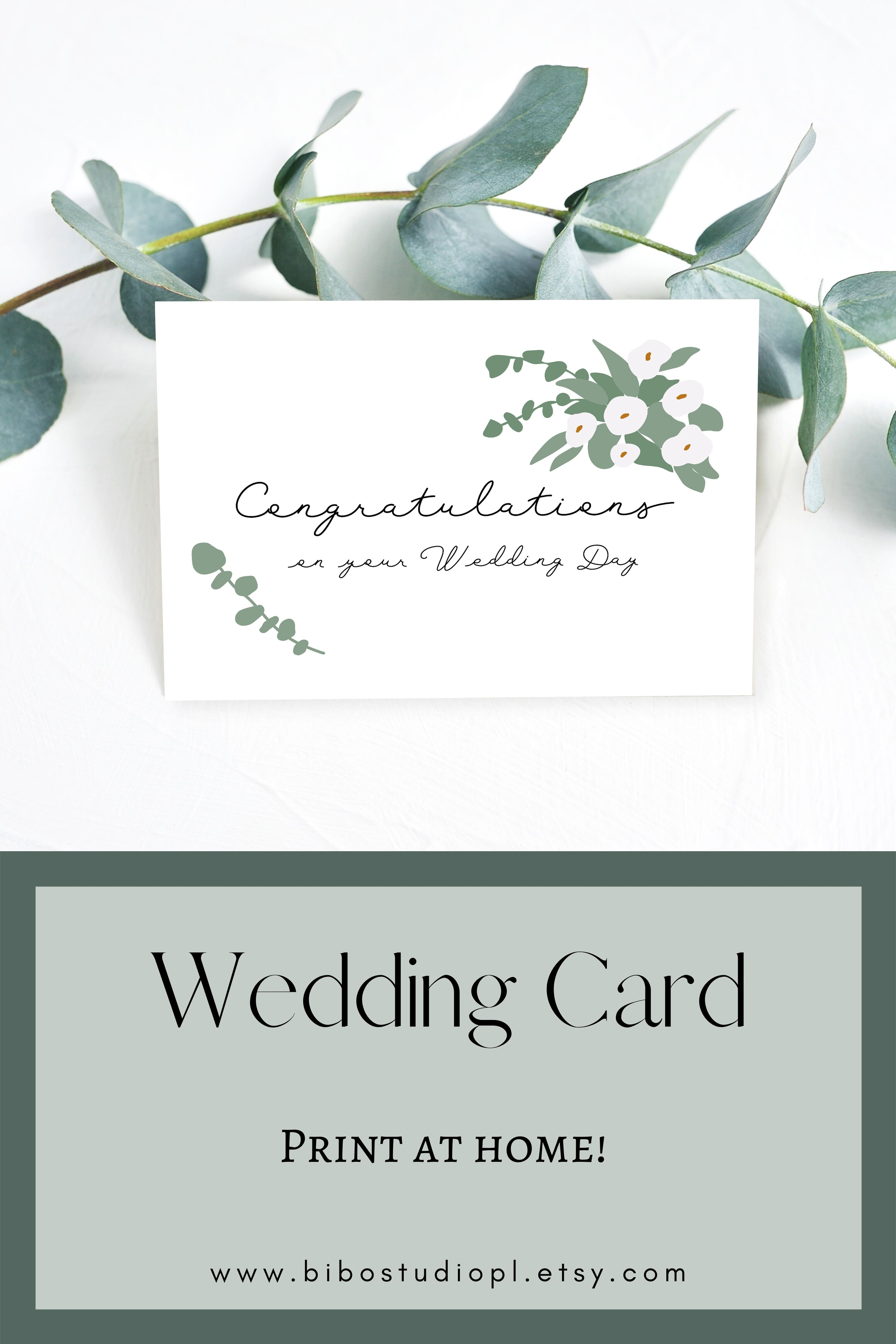 Printable Wedding Card Congratulations Card Instant Download Pdf Us Eu Sizes In 2020 Wedding Congratulations Card Wedding Cards Wedding Greeting Cards