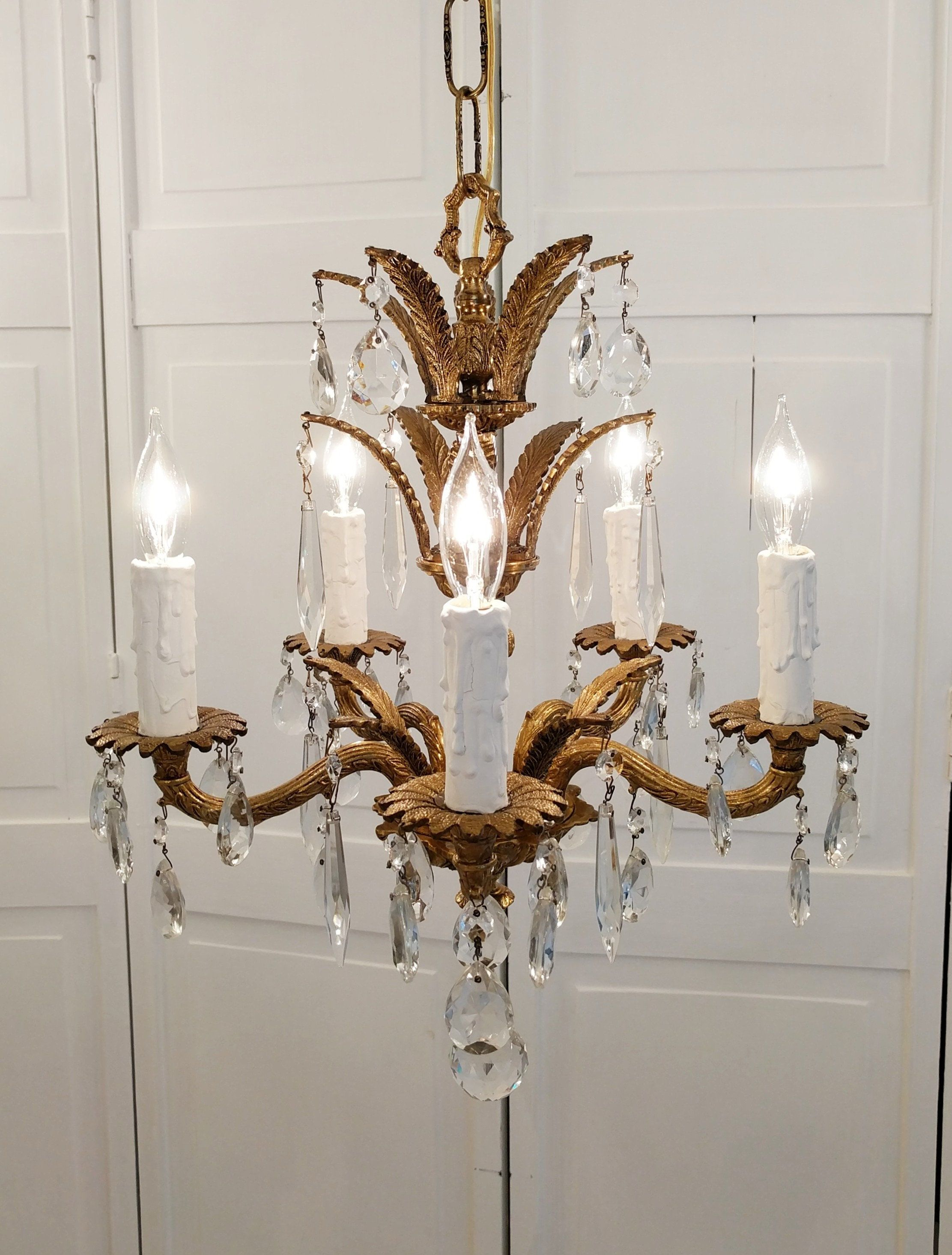 Vintage Chandelier Antique Chandelier Ornate Spanish Brass Bespoke