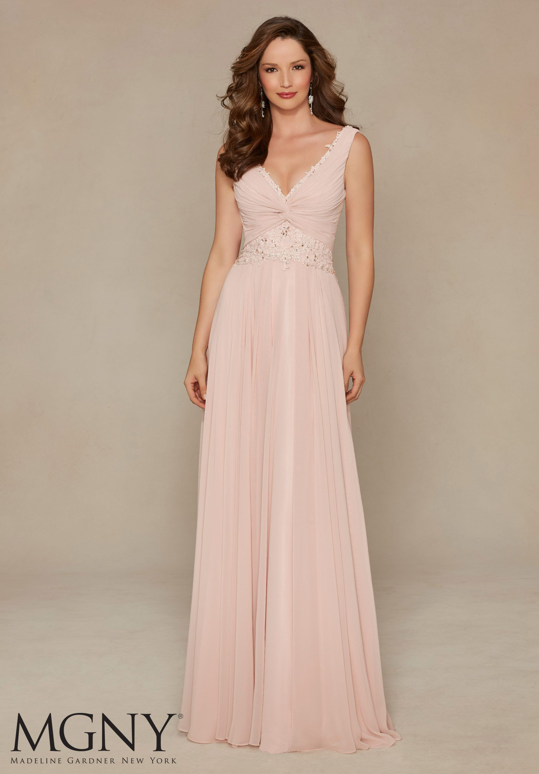 Evening Gowns and Mother of the Bride Dresses by MGNY Beaded Lace on ...
