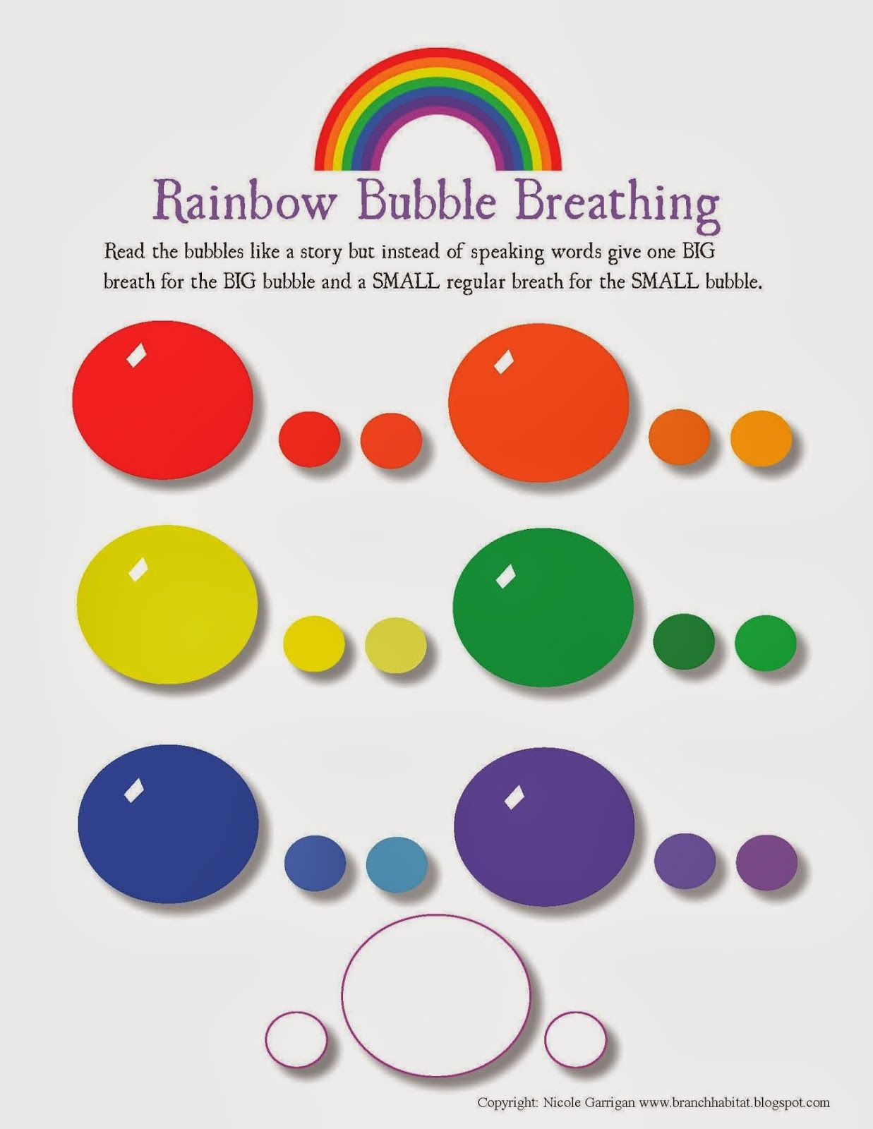 Rainbow Breathing Exercise And Worksheet