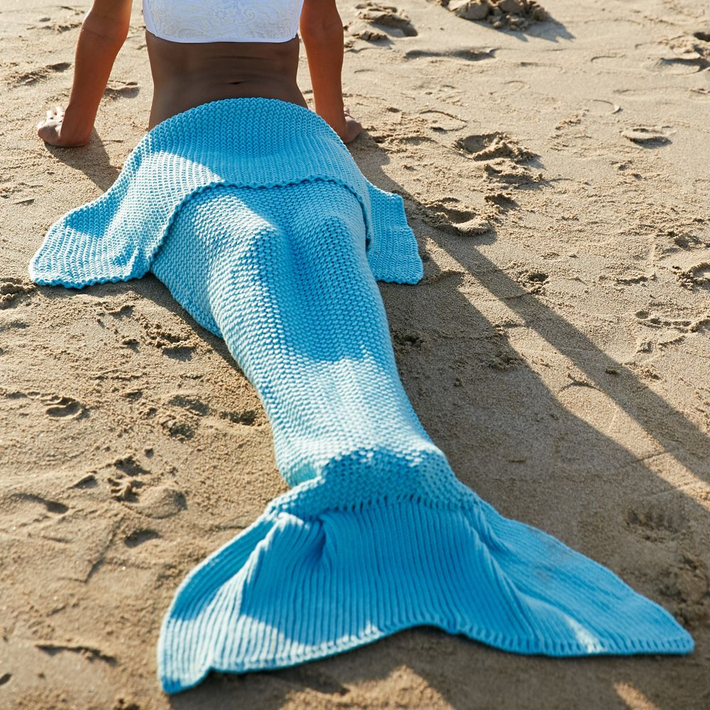 High Quality Wool Knitting Fish Tail Design Blanket For ...