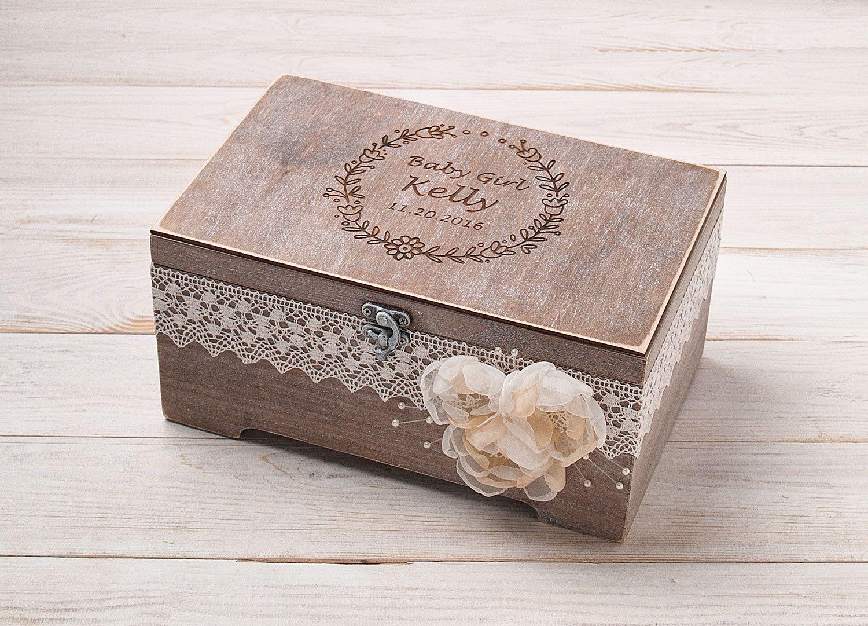 Baby keepsake box kids memory box personalised toy