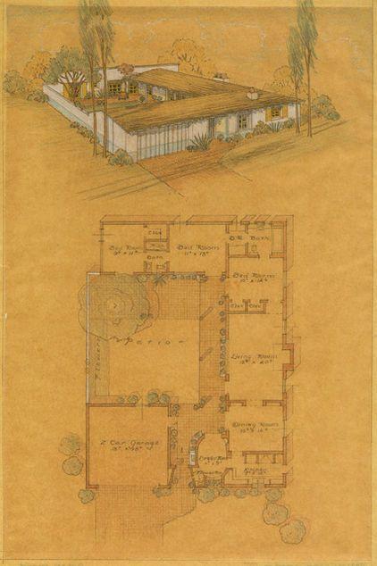 Exhibit Honors Cliff May S California Ranch Style Maisons Style Hacienda Plans De Maison Style Ranch Maisons De Style Espagnol