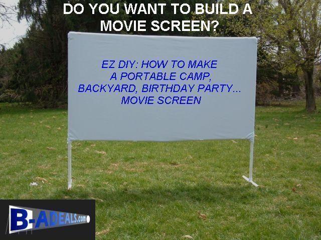 120 16 9 Diy Projector Screen Material Outdoor Movie Night Backyard Party Camp Diy Outdoor Movie Screen Outdoor Movie Screen Diy Movie Screen