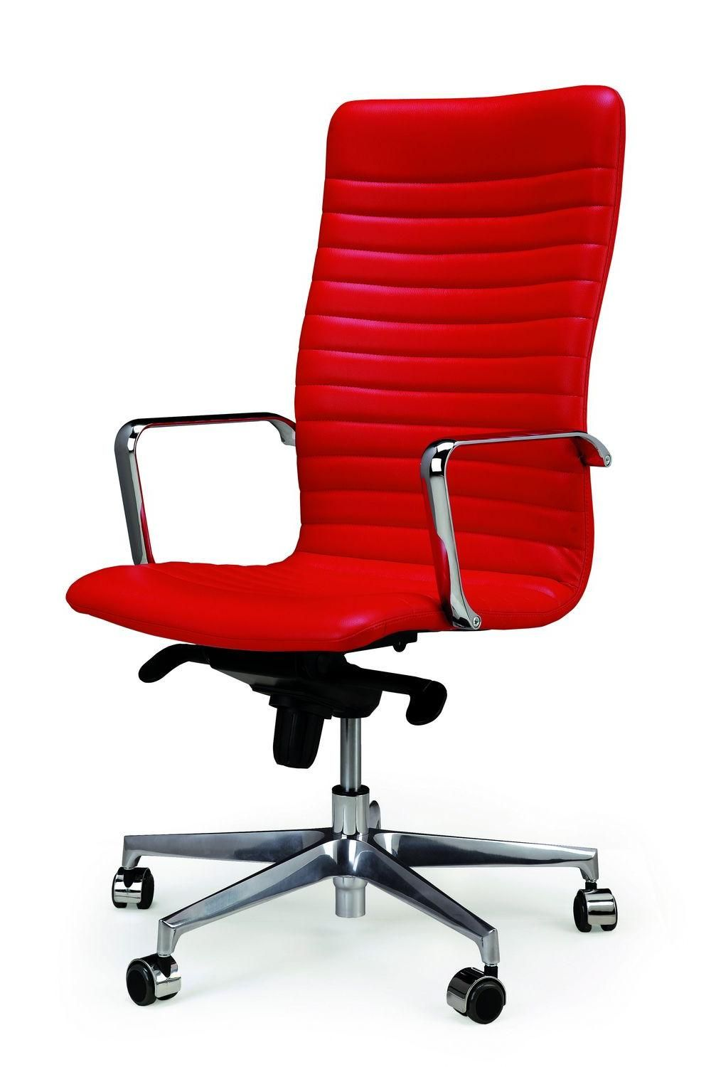 Elegance Red Leather Modern Office Chairs Decor For Comfortable Working Fantastic Modern Office Chairs Decor Modern Office Chair Chair Decorations Office Chair