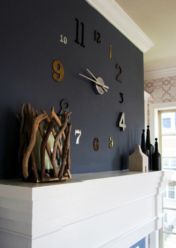 Coole trennwand Wanduhren schwarz farbgestaltung | Haus ...