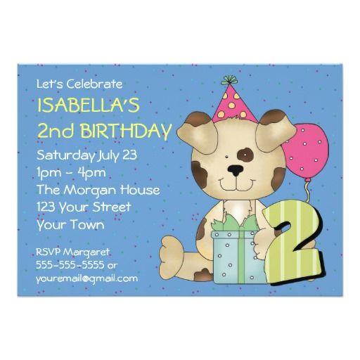 Custom 2nd Birthday Puppy Dog