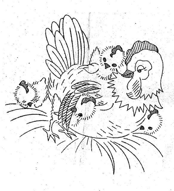hen and chicks | coloring art | Pinterest | Patrones, Diseño y ...