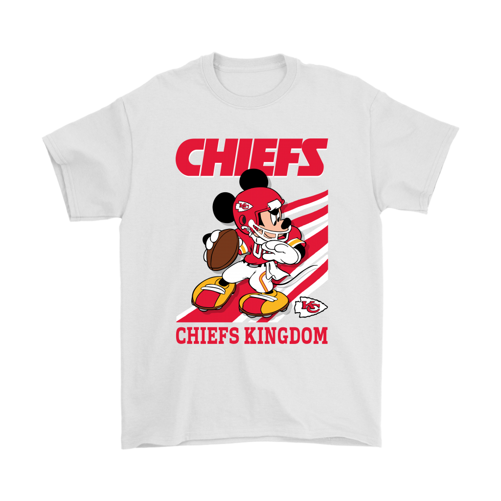 803beaf3aef Kansas City Chiefs Slogan Chiefs Kingdom Mickey Mouse NFL Shirts ...