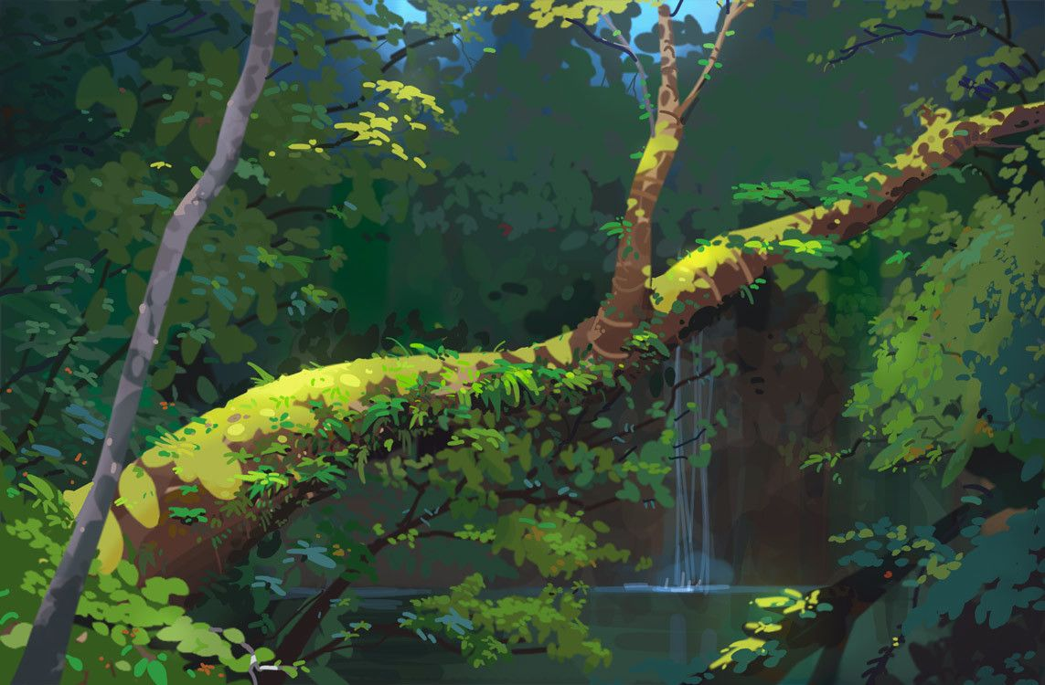 ArtStation Forest + Tutorial How To Draw a Tree Tutorial