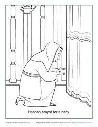 Hannah Prayed For A Baby Coloring Page With Images Sunday
