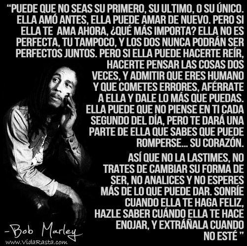 No Seras Su Primer Amor Bob Marley Buscar Con Google Citas De