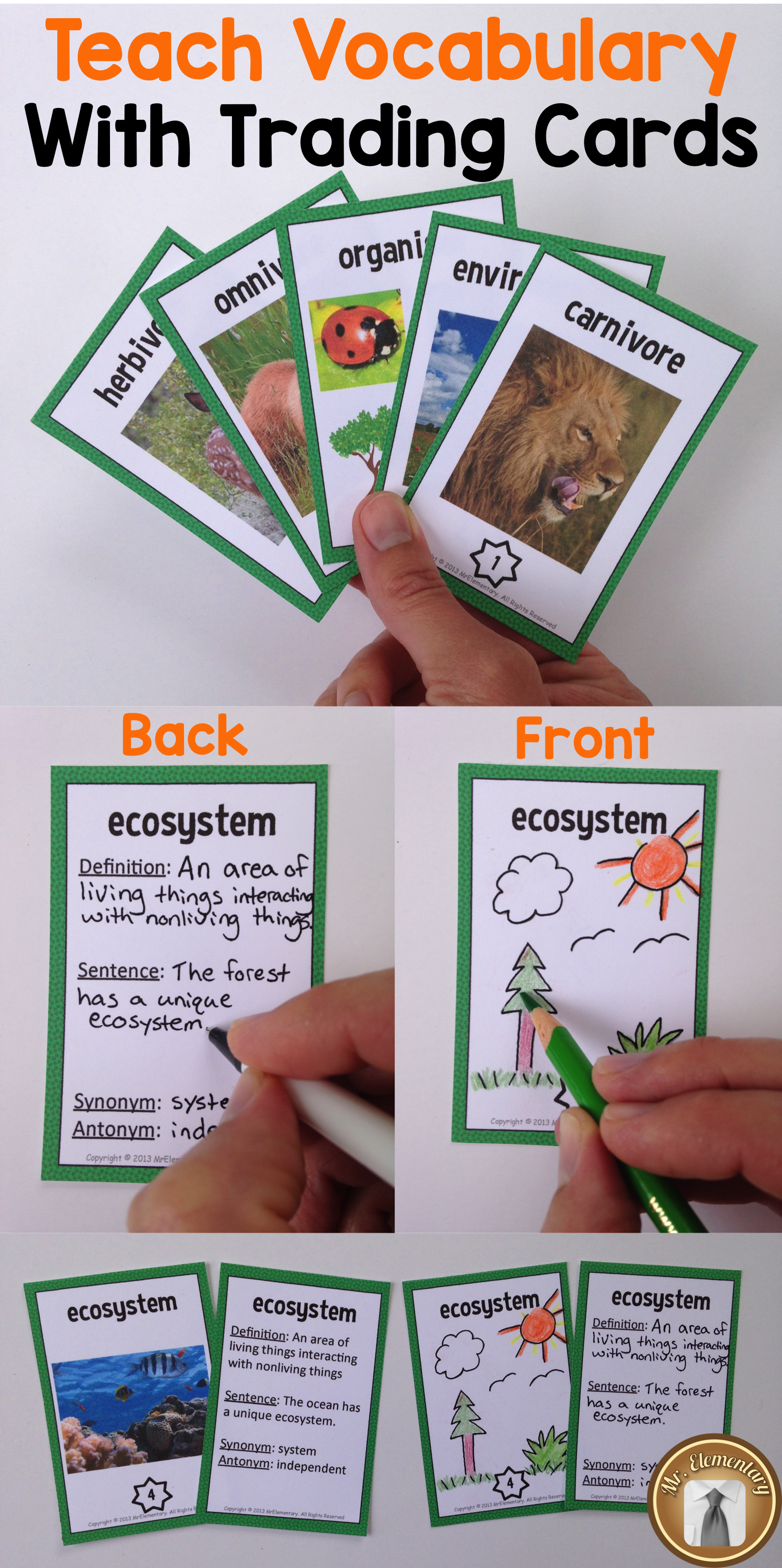 writing a word picture cards