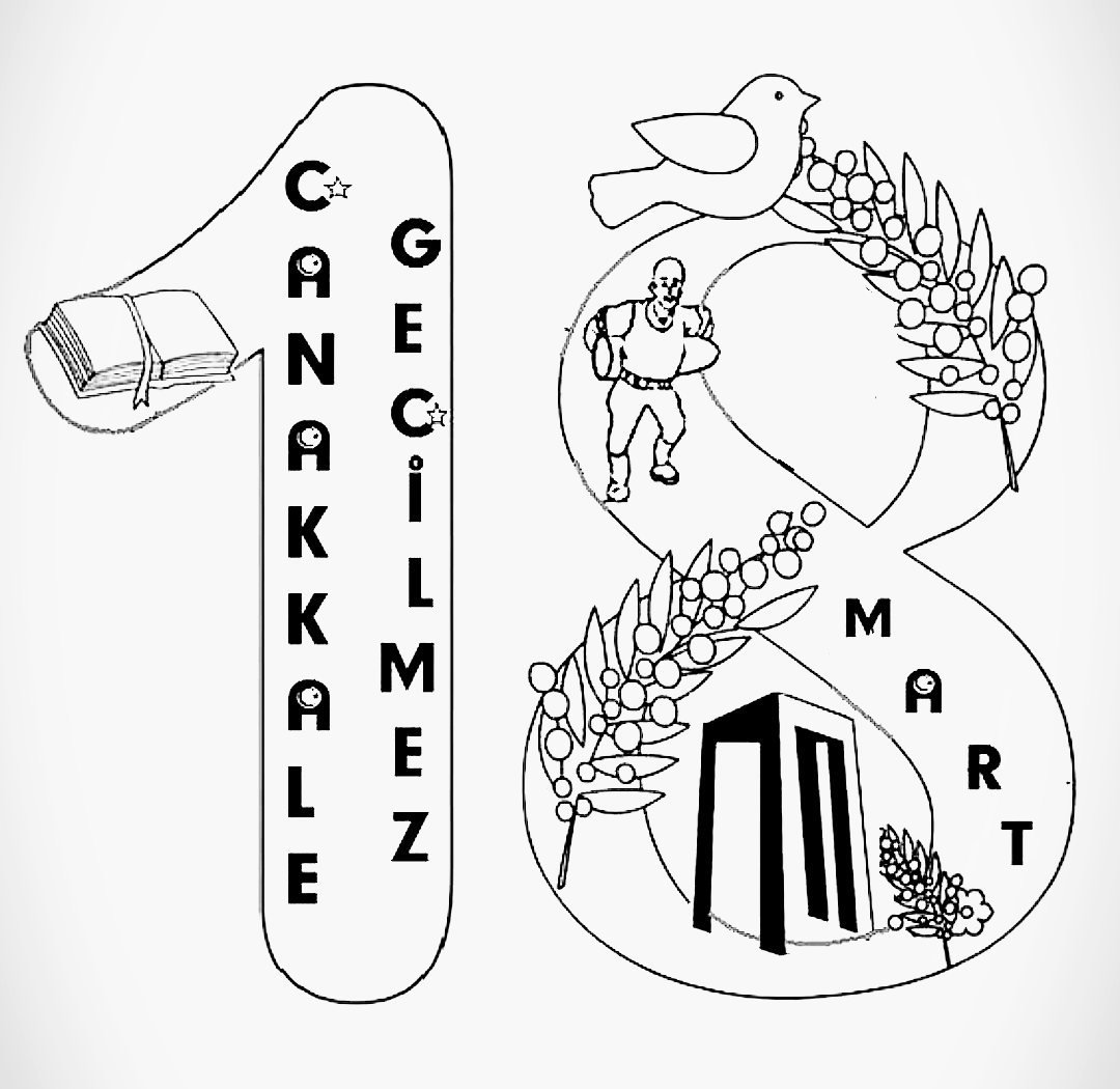 Okul Oncesi Canakkale Zaferi Boyama Sayfasi Martini Okul