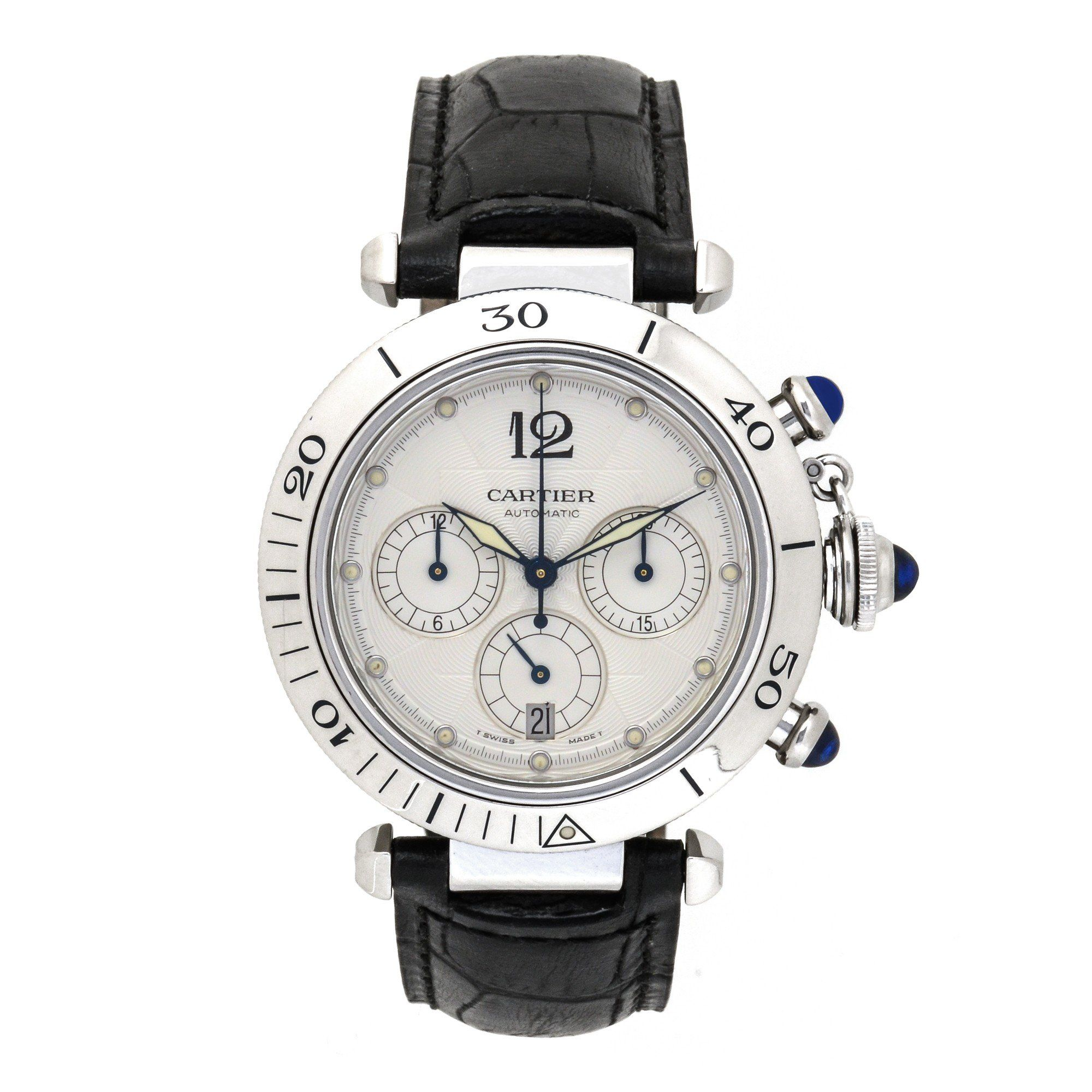 chronograph pre owned cartier pasha watches