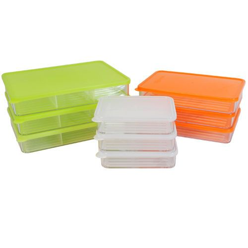 Silicook A set of 9 Fridge Food storage subdivision Flat Type