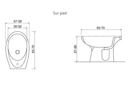bidet standard dimensions guide mesures r gles d 39 agencement pinterest. Black Bedroom Furniture Sets. Home Design Ideas
