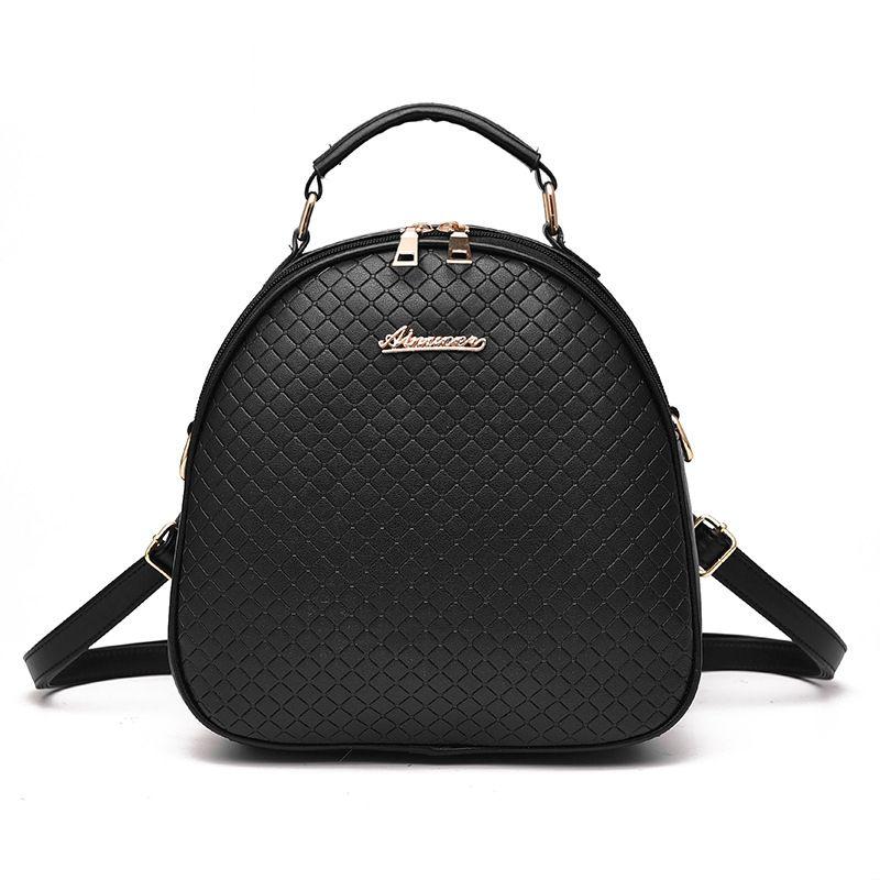 2017 Luxury Mini Women Bags Designer Multi- Function Backpack Plaid PU Leather Bolsa Teenage Girls School Bag Mochila Escolar