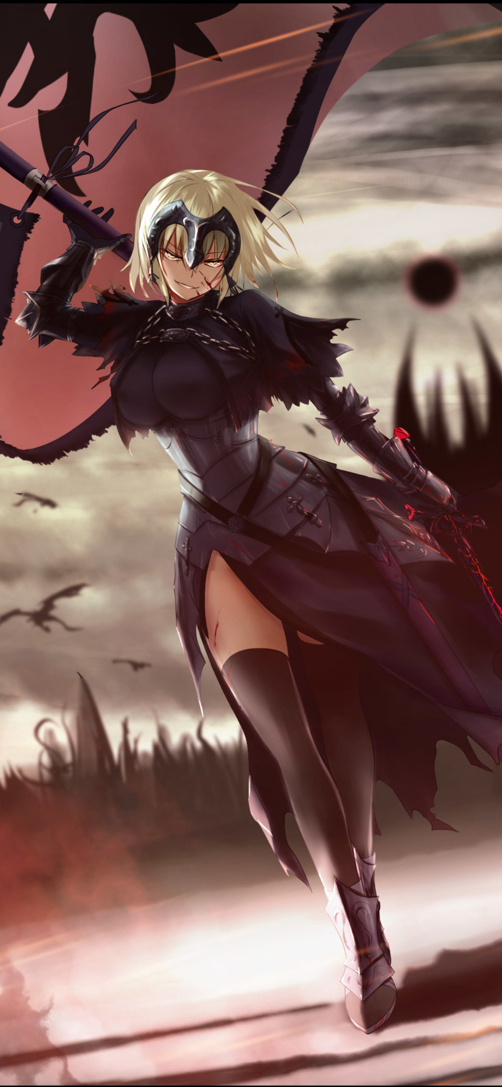 Anime Fate Grand Order 4k Iphone Xs Max Hd 4k Wallpapers Fate Jeanne D Arc Alter Is Free On Elsetge Cat P In 2020 Fate Stay Night Anime Anime Wallpaper Iphone Anime