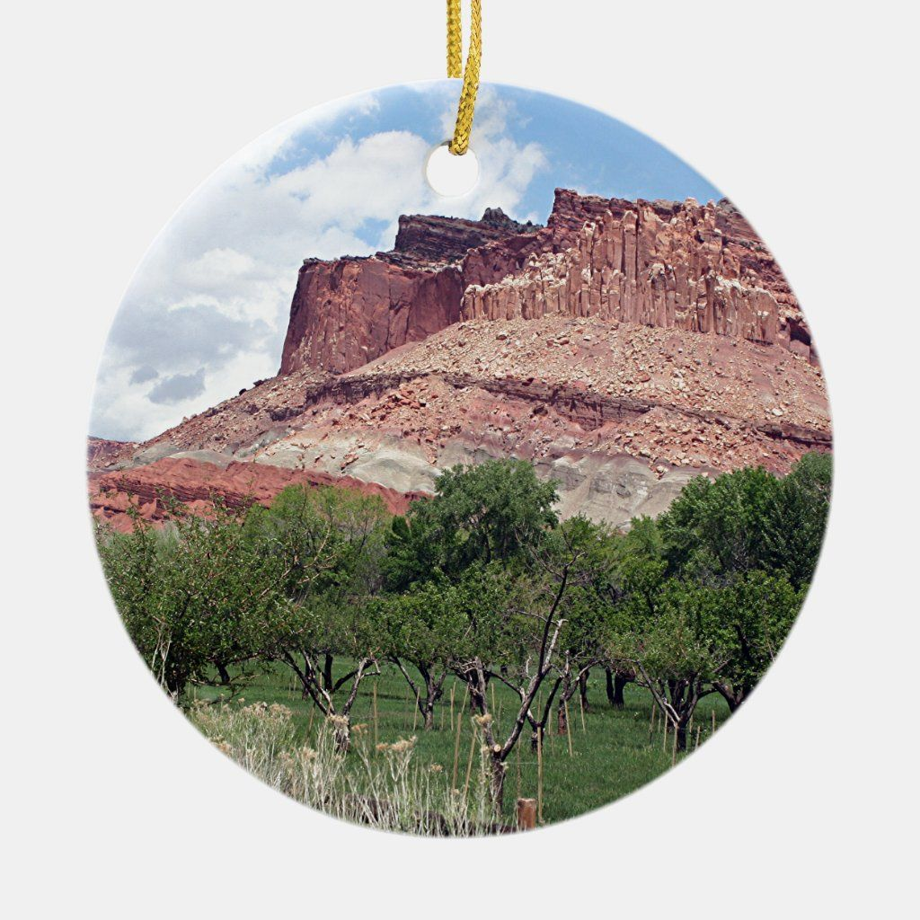 Fruita, Capitol Reef National Park, Utah, USA 5 Ceramic Ornament