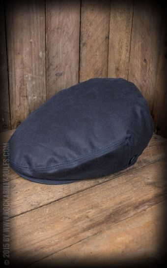 Herren Cap - Neil Waxed Cotton, marin