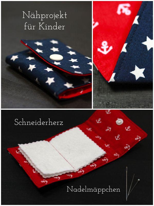 Photo of Schneiderherz: Nähen mit Kindern- Tutorial für Nadelmäppchen