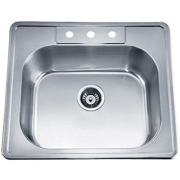 Kitchen Sinks Single Drop In Series Stainless Steel Top Mount Sink 24 3 4 Single Bowl Kitchen Sink Drop In Kitchen Sink Top Mount Kitchen Sink