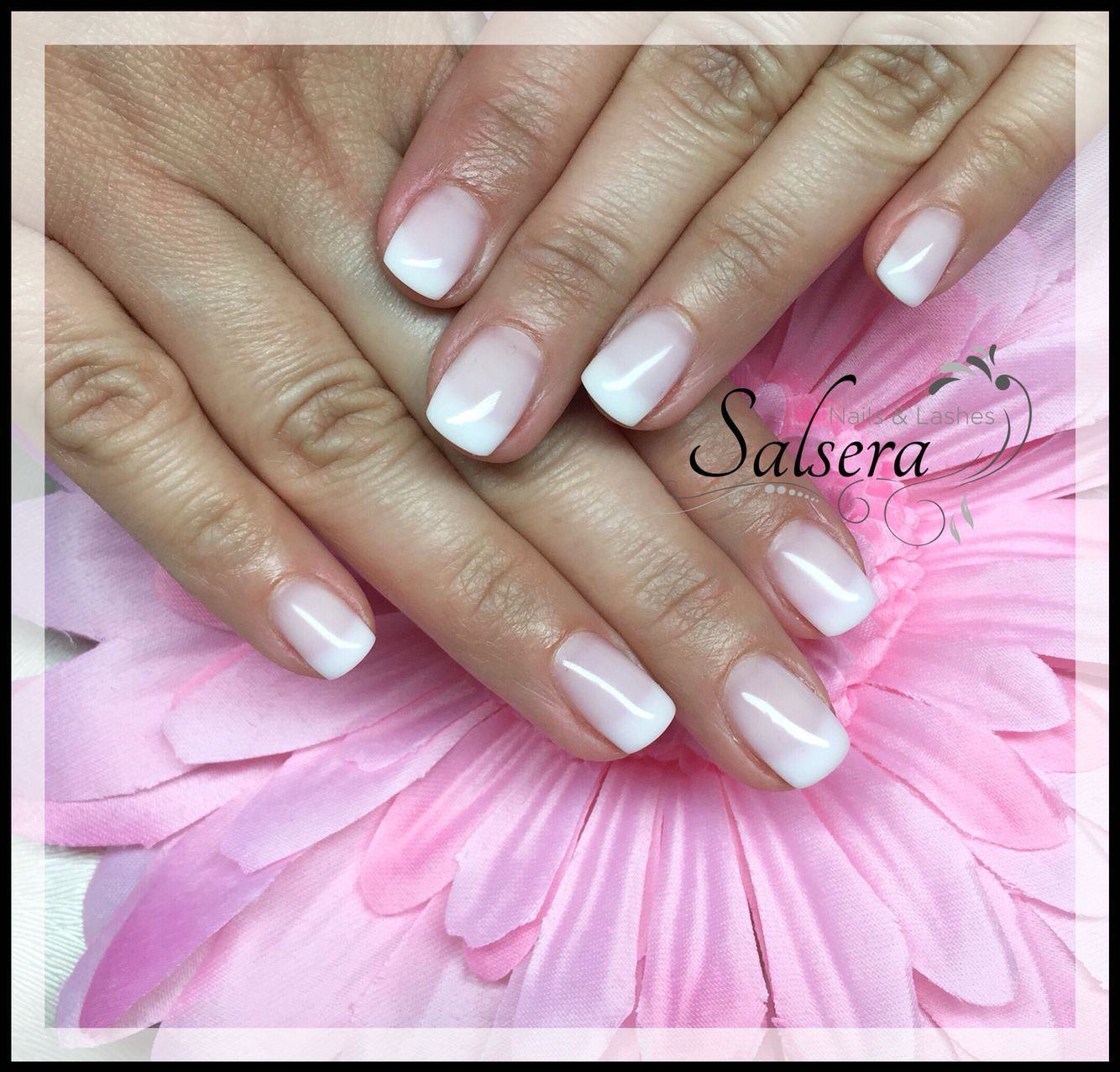 Nails, Nägel, Nageldesign, Frenchclassic, Rosé milky, shortnails ...