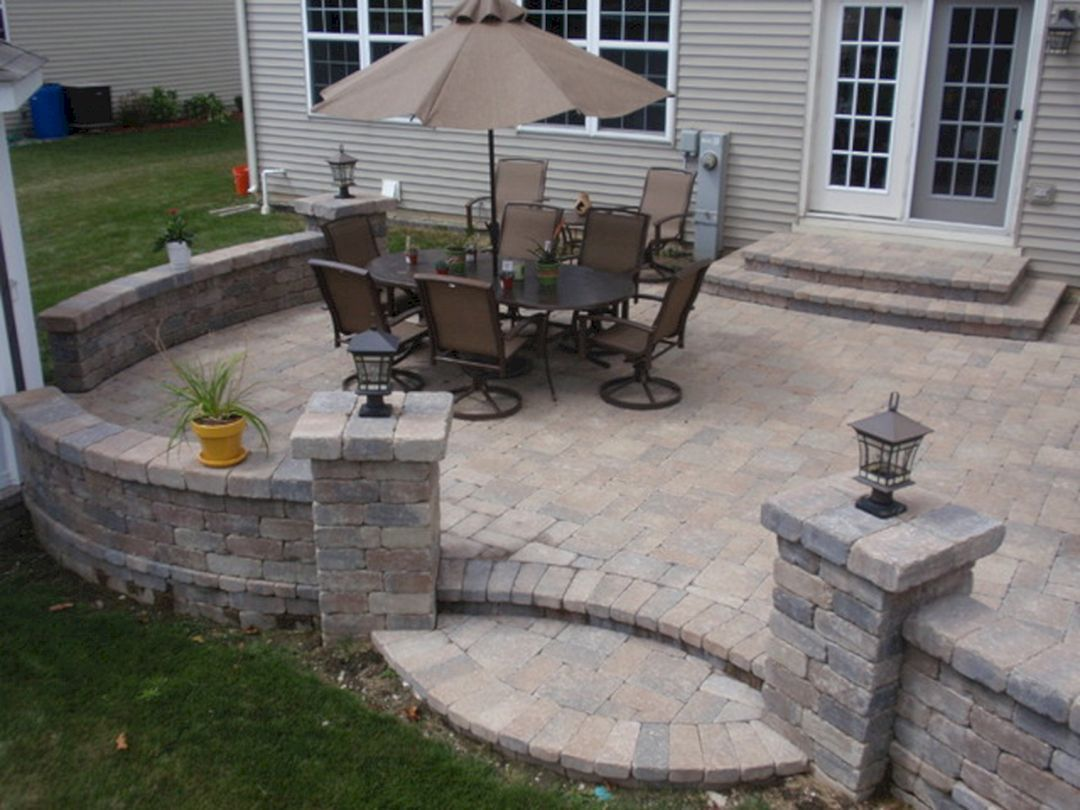 Small Brick Patio Design Ideas On Your Front Yard 2 Decorathing