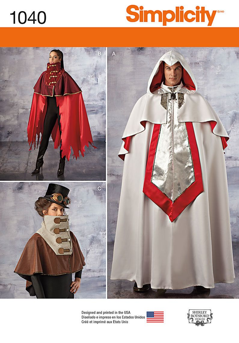 Assassins Creed/Knights of Templar Costume Pattern by Simplicity ...