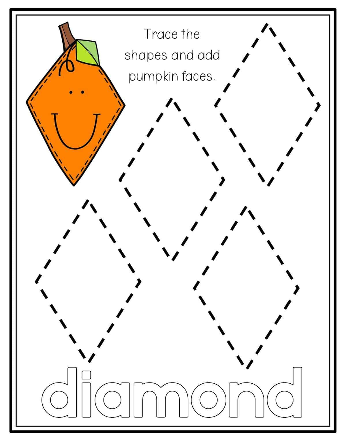 Pumpkin Shape Tracing