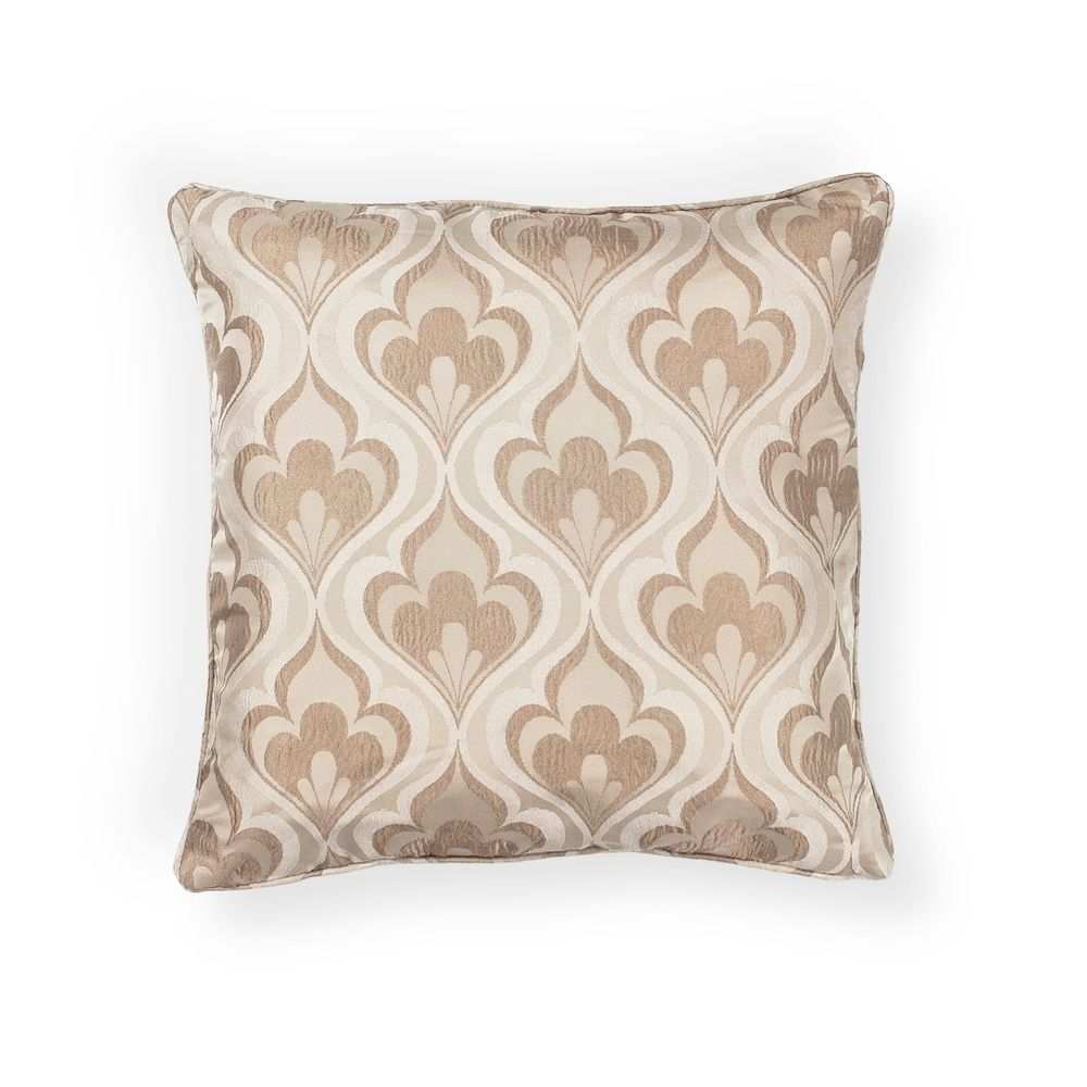 KAS Beige Flames Decorative Throw Pillow (18 X 18 - Medium), KAS Rugs(Polyester, Geometric)
