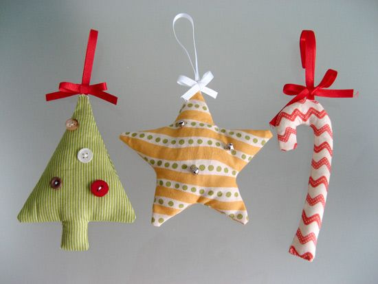 Fabric Christmas Decorations  Christmas  Pinterest  Fabric
