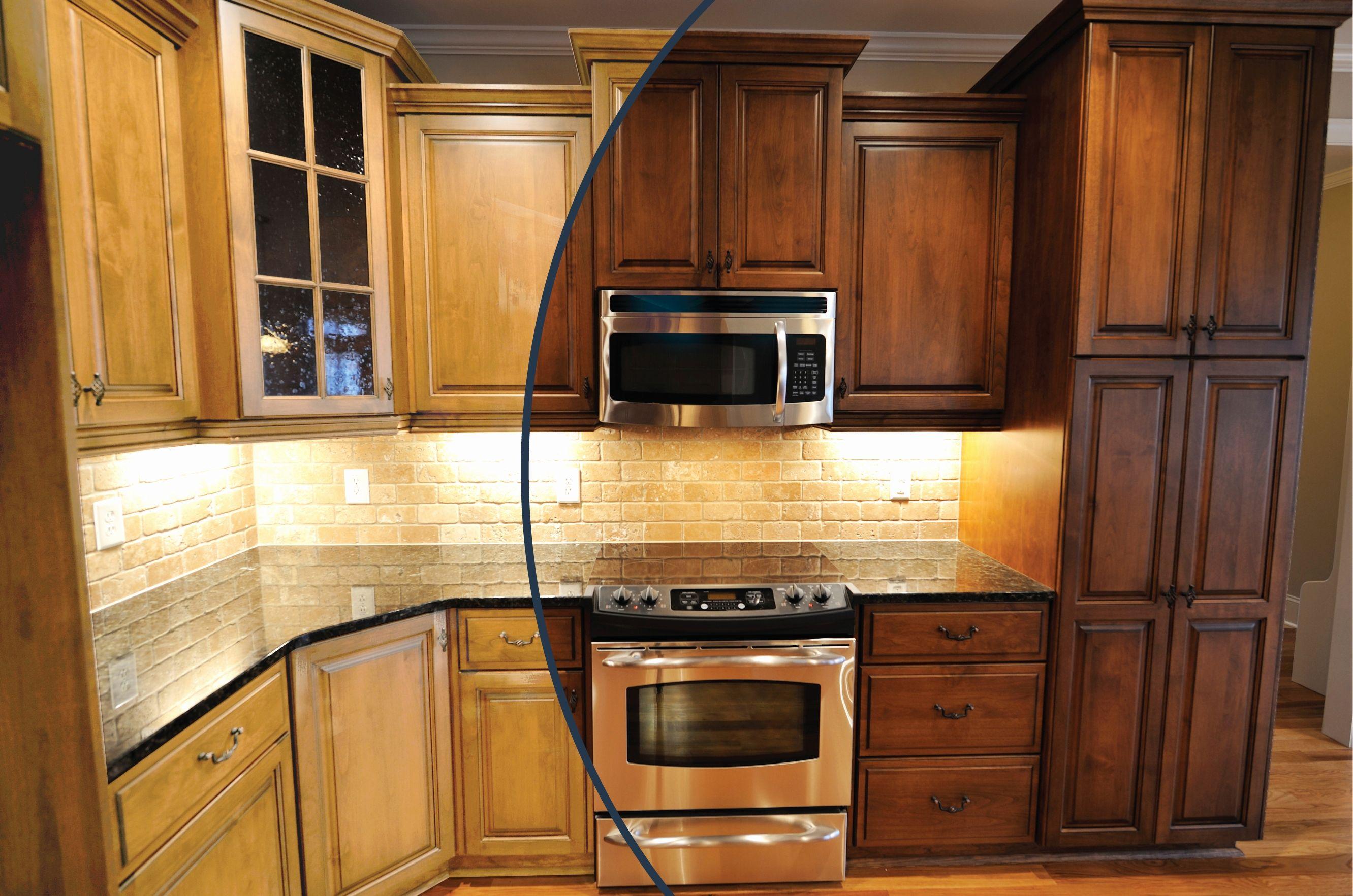 Gel Stain Kitchen Cabinets Best Of Staining Oak Kitchen ...