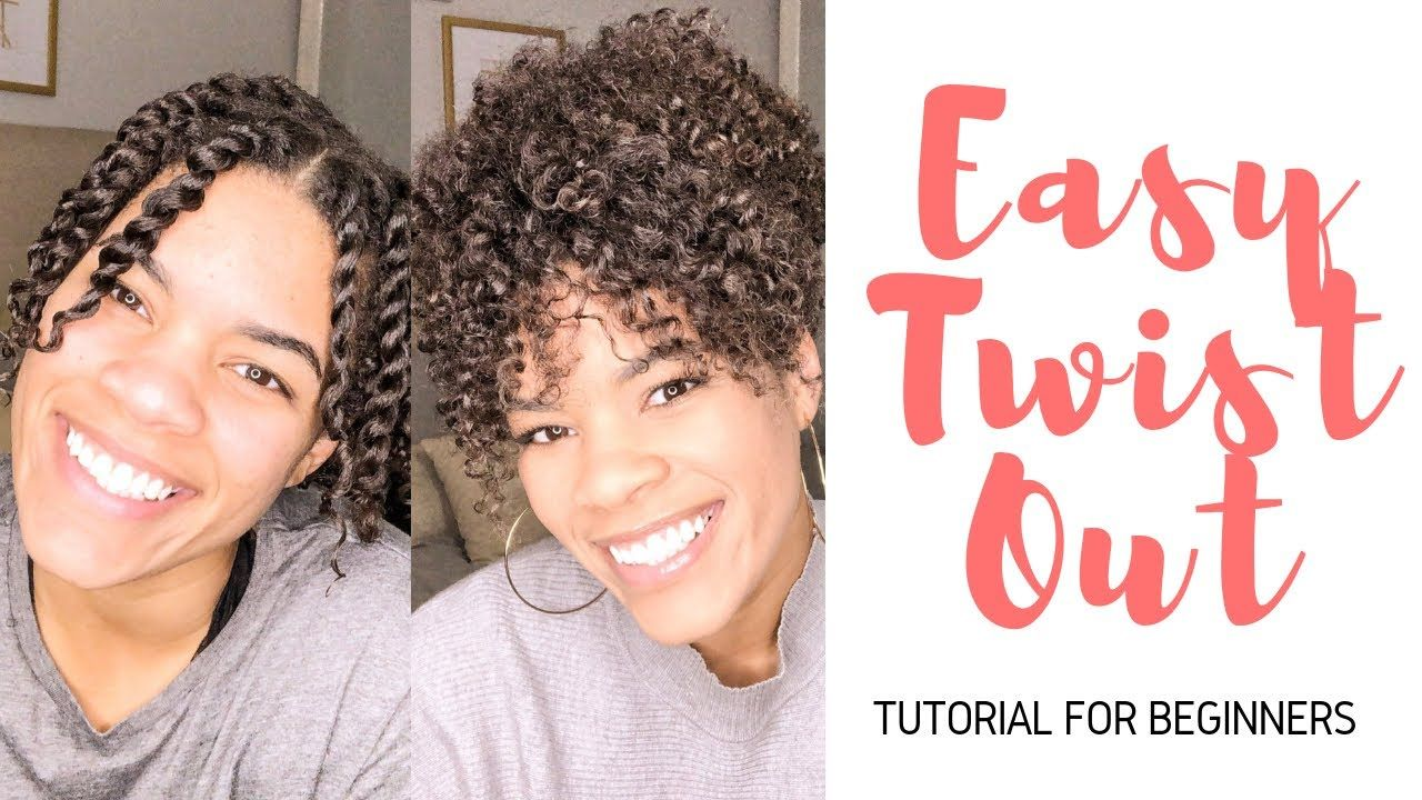 Easy Twist Out Tutorial For Beginners   Short Natural Hair ...