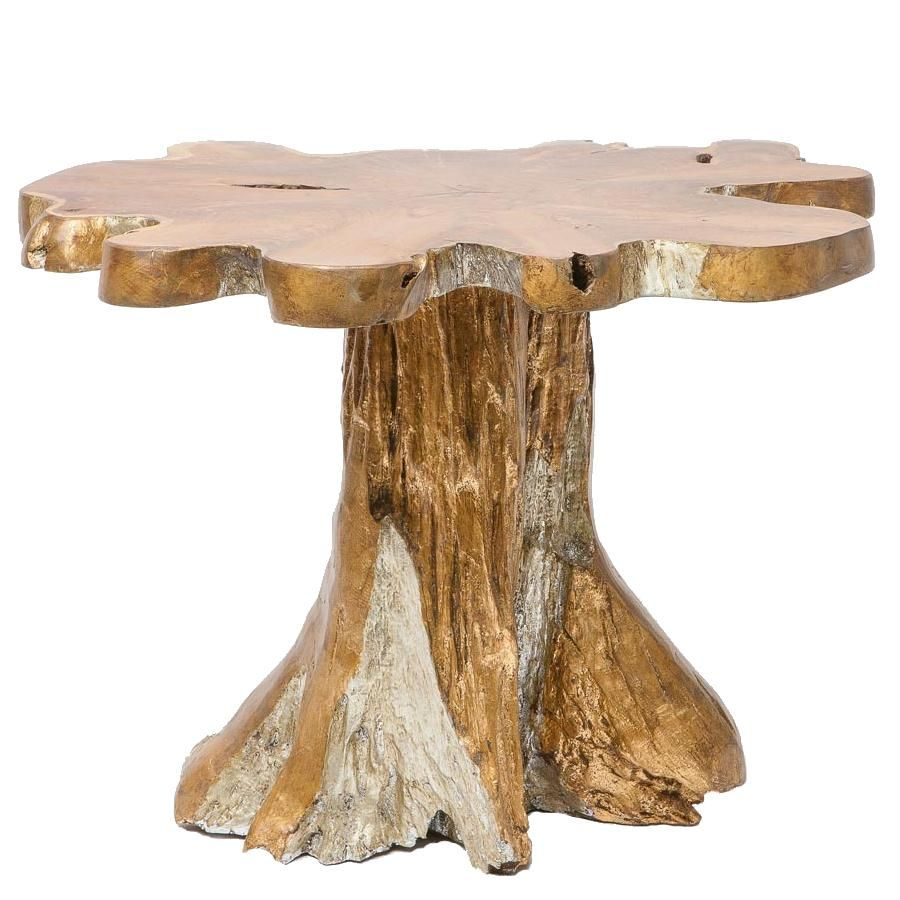 One Of A Kind Berger Leafed Teak Root Table Natural And Glamorous Cottage Bungalow Root Table Accent Side Table Rustic Furniture