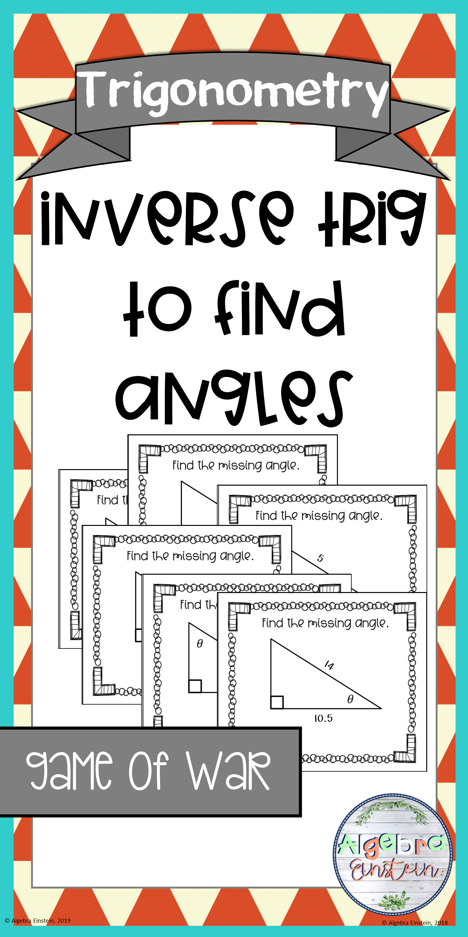 Right Triangle Find Angles with TrigGame of War Right