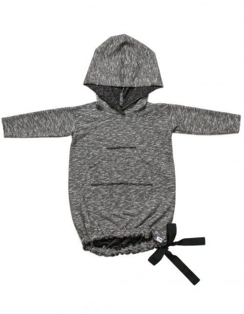 Tunika/Bluza z kokardą czarny melanż
